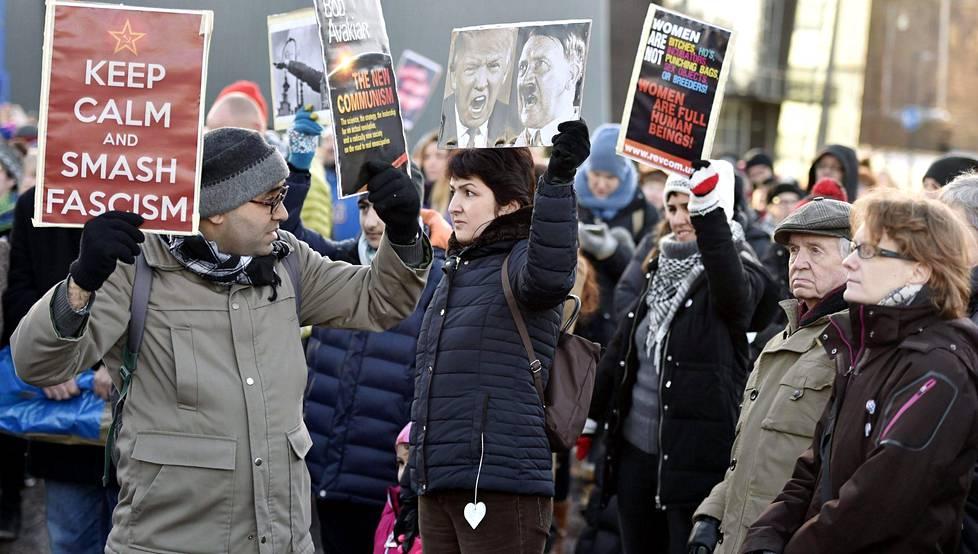 Myös Helsingissä marssittiin.