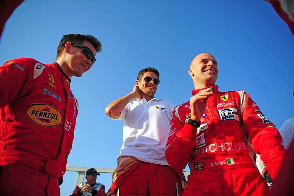Toni Vilander, Giancarlo Fisichella ja Gianmaria Bruni olivat unelmatiimi.