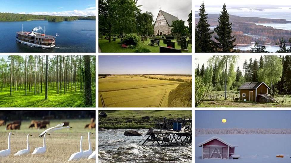 Suomen kieli soljuu kauniisti eri puolilla maata.