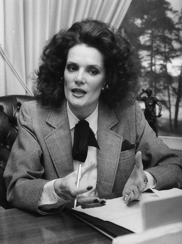 Kaarina Kivilahti vuonna 1983. Tuolloin hän auttoi puolisoaan tämän yritystoiminnassa ja oli kotiäiti.