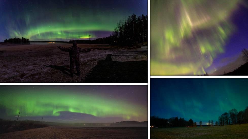 Ilta-Sanomien lukijat lähettivät valokuviaan taivasta viime yönä kaunistaneista revontulista.