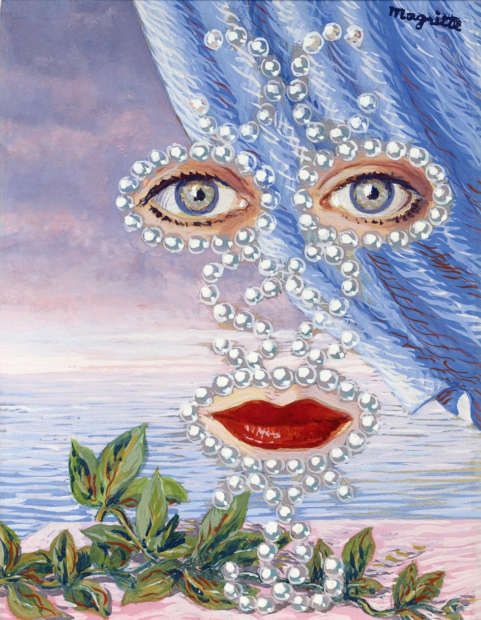 """""""Šeherazade tai Rachel Baesin muotokuva"""". Šeherazade oli Tuhannen ja yhden yön tarinoiden sankaritar, Rachel Baes belgialainen surrealisti."""