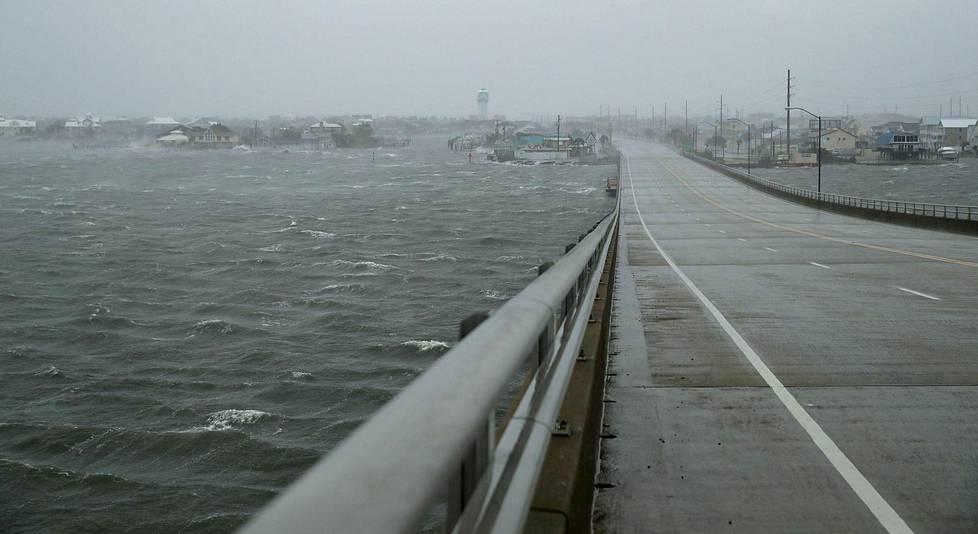 Näkymä Atlantic Beachin sillalla Pohjois-Carolinassa.