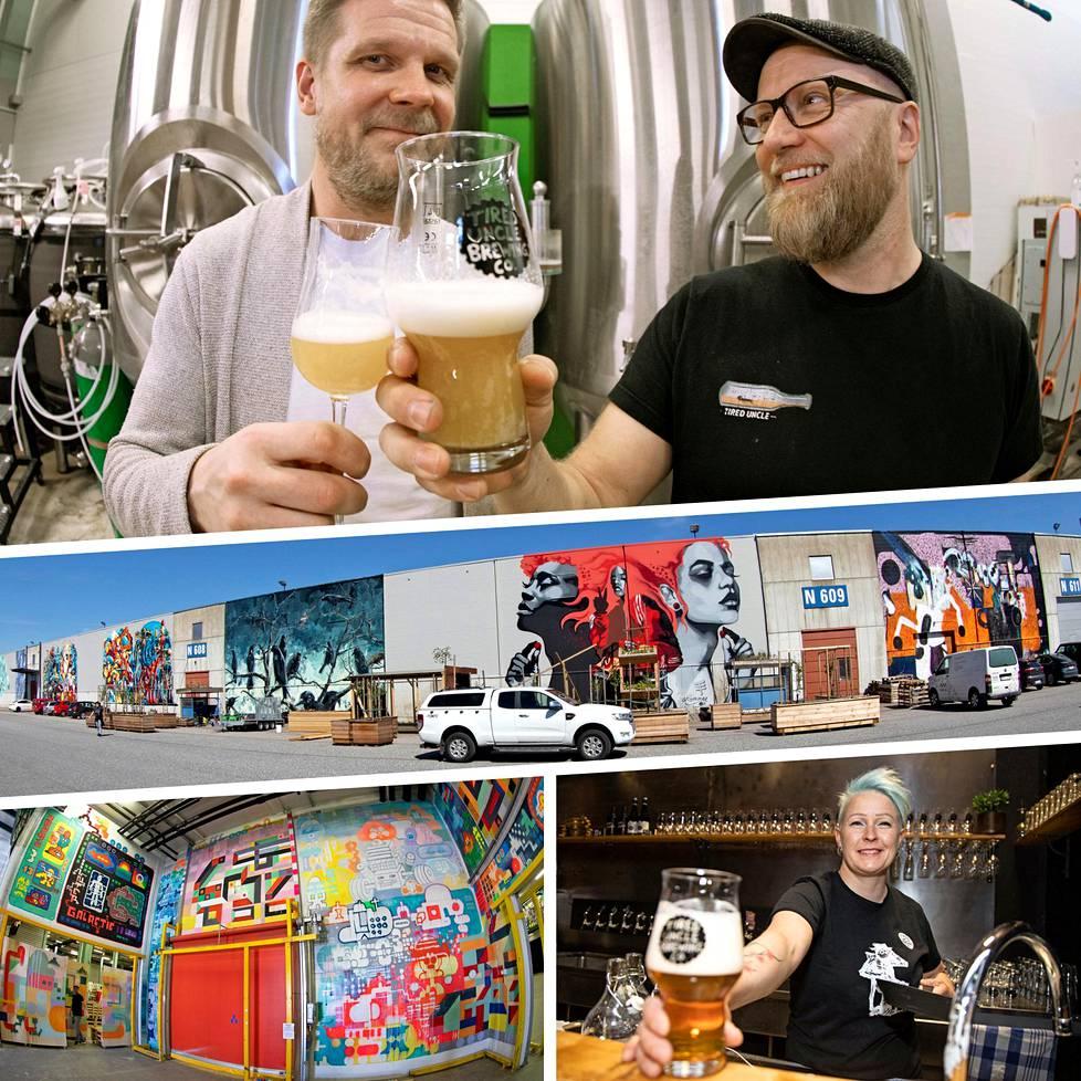 Espoon Keraan on syntynyt kaupunkikeidas. Tarjolla on liikuntaa, taidetta ja olutta.
