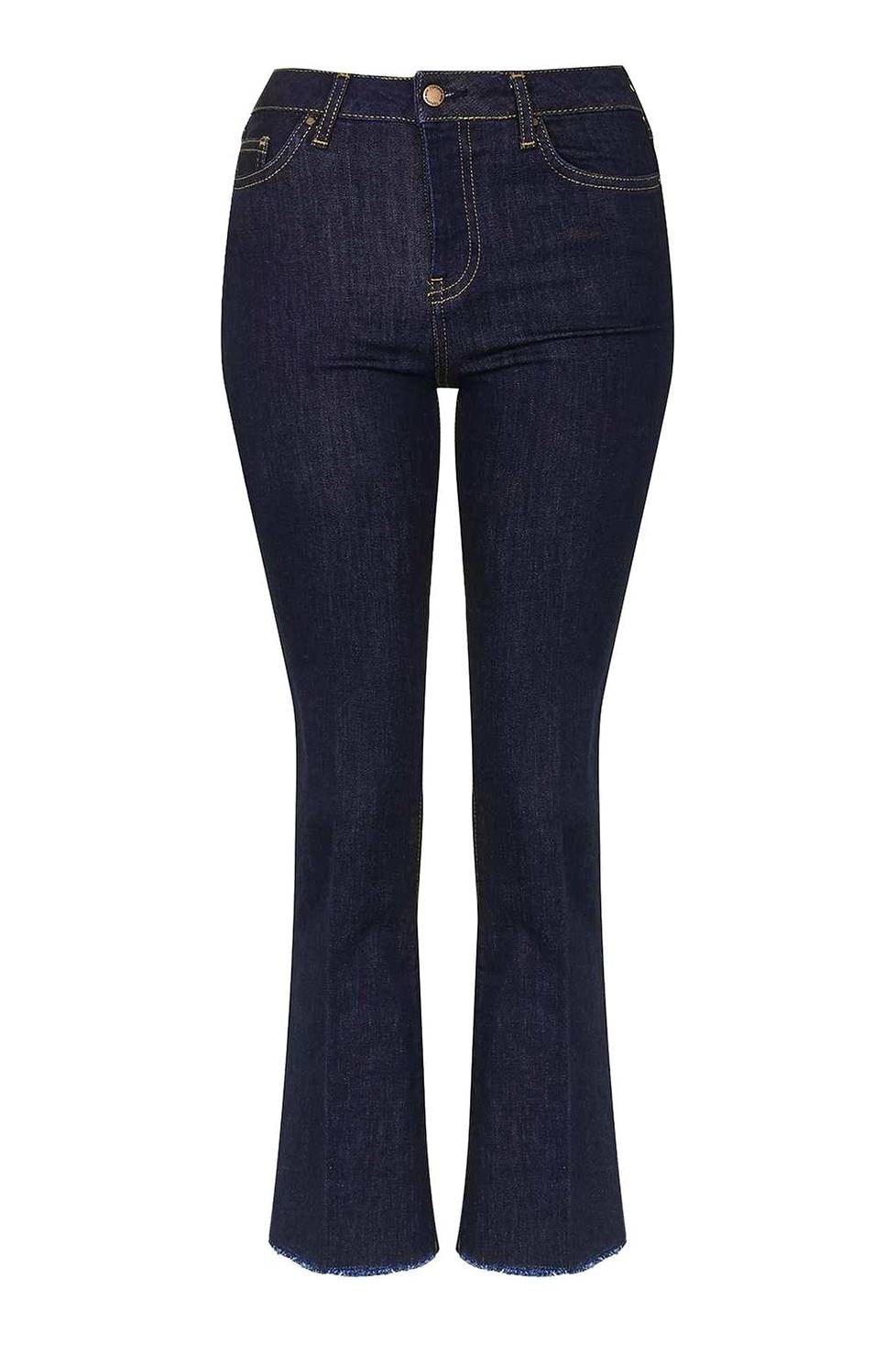 MOTO Raw Hem Crop Kick Flared Jeans 20 €, Topshop.