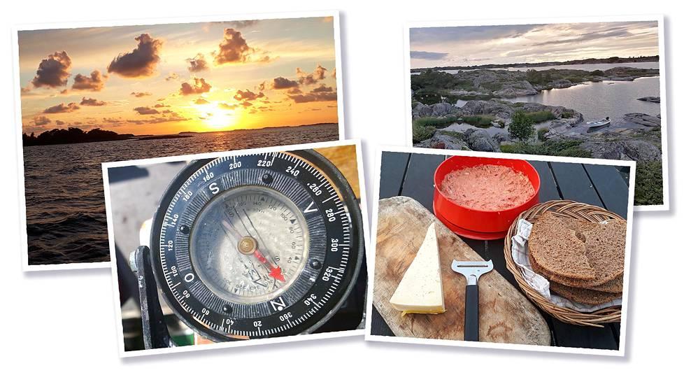 """Kompassi auttaa suunnistamaan hämärässä ja sumussa. Savustetusta kalasta tehdään usein leivän päälle levitettävää tahnaa, joka kulkee perheessä nimellä """"jäddspread""""."""