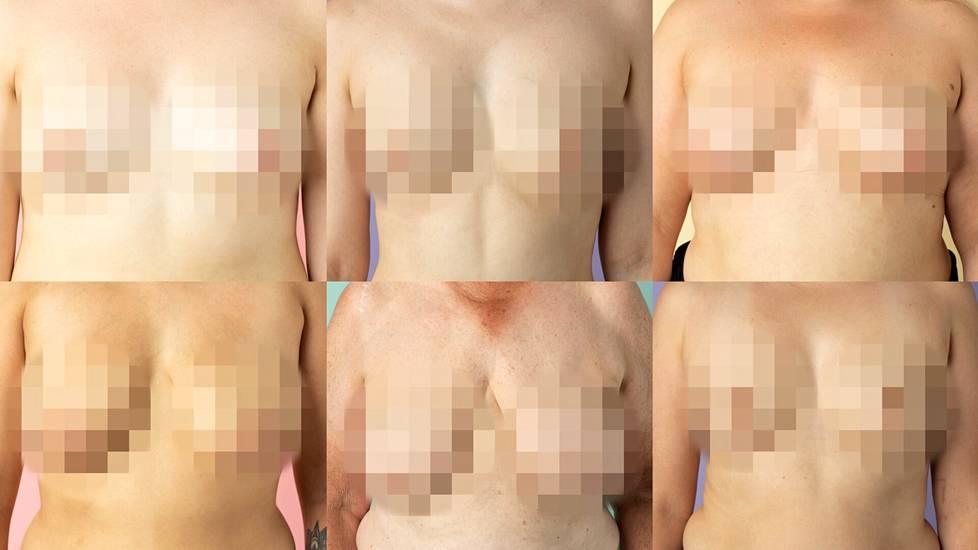 Tätä olemme tottuneet näkemään esimerkiksi tv:ssä. Nämäkin rinnat voi nähdä jutussa myös ihan sellaisenaan.