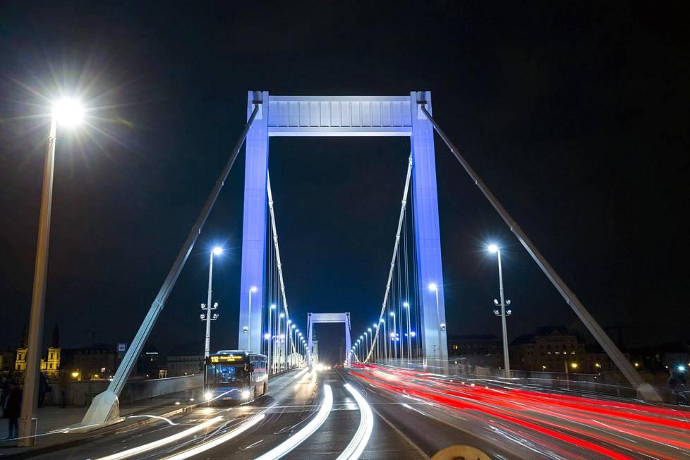 Elisabetin silta Budapestissa.
