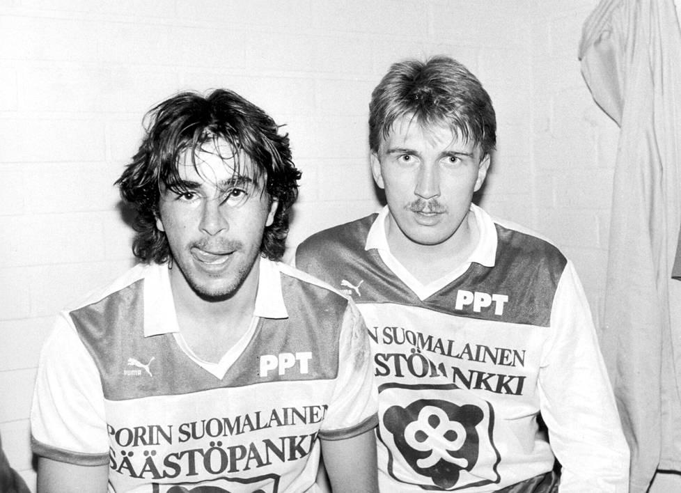 Jorma Heinonen (vas.) ja Jarmo Alatensiö olivat kavereita niin kentällä kuin sen ulkopuolellakin.