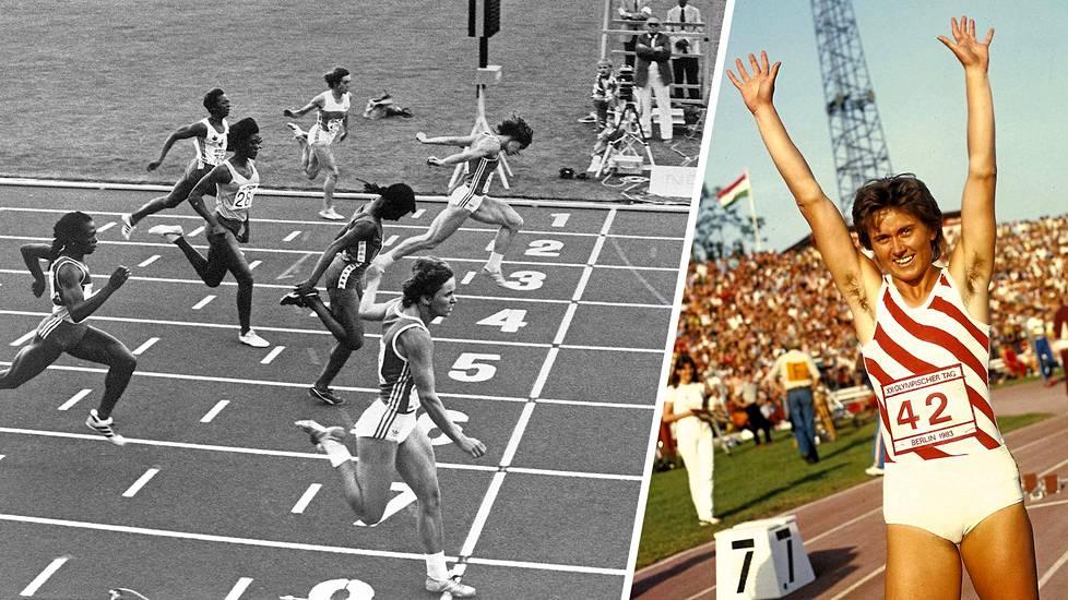–Jotta onnistuu juoksemaan maailmanennätyksen, tarvitaan vähän onneakin, Marlies Göhr sanoo.