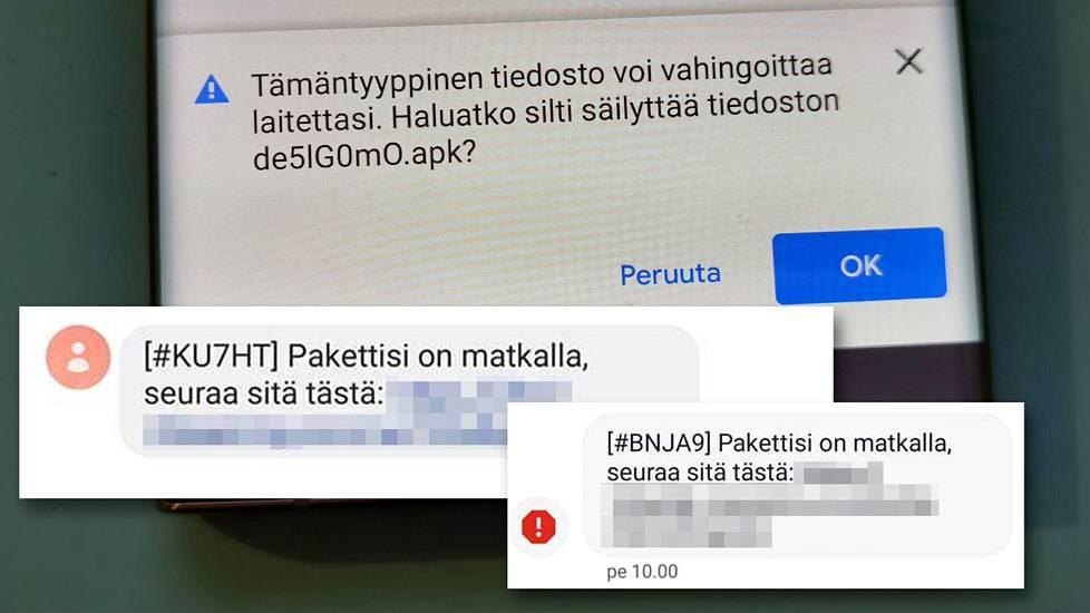 Tekstiviestillä tuleva linkki johtaa verkkosivulle, joka tarjoaa tiedostoa ladattavaksi Android-puhelimeen. Kysymykseen on vastattava kieltävästi.