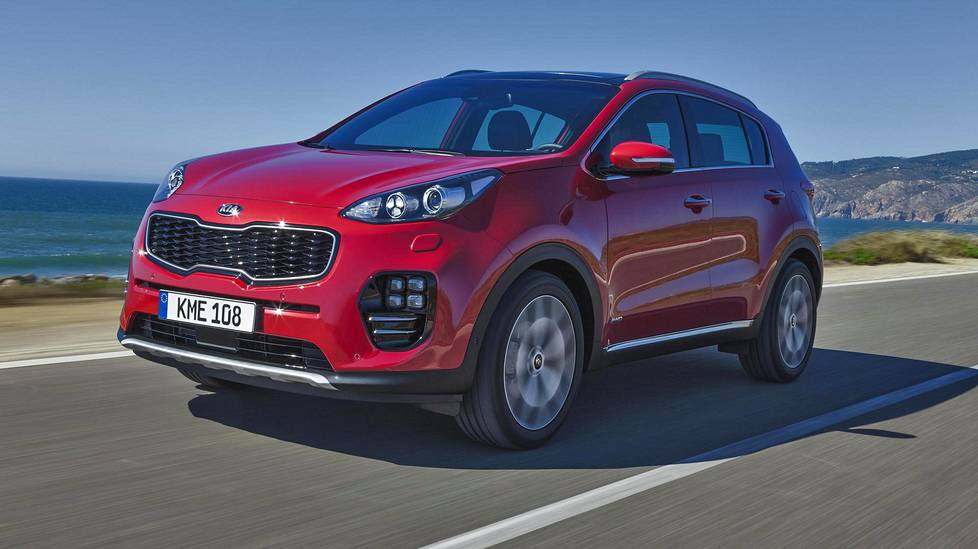 Sportage on aiempaa pidempi.