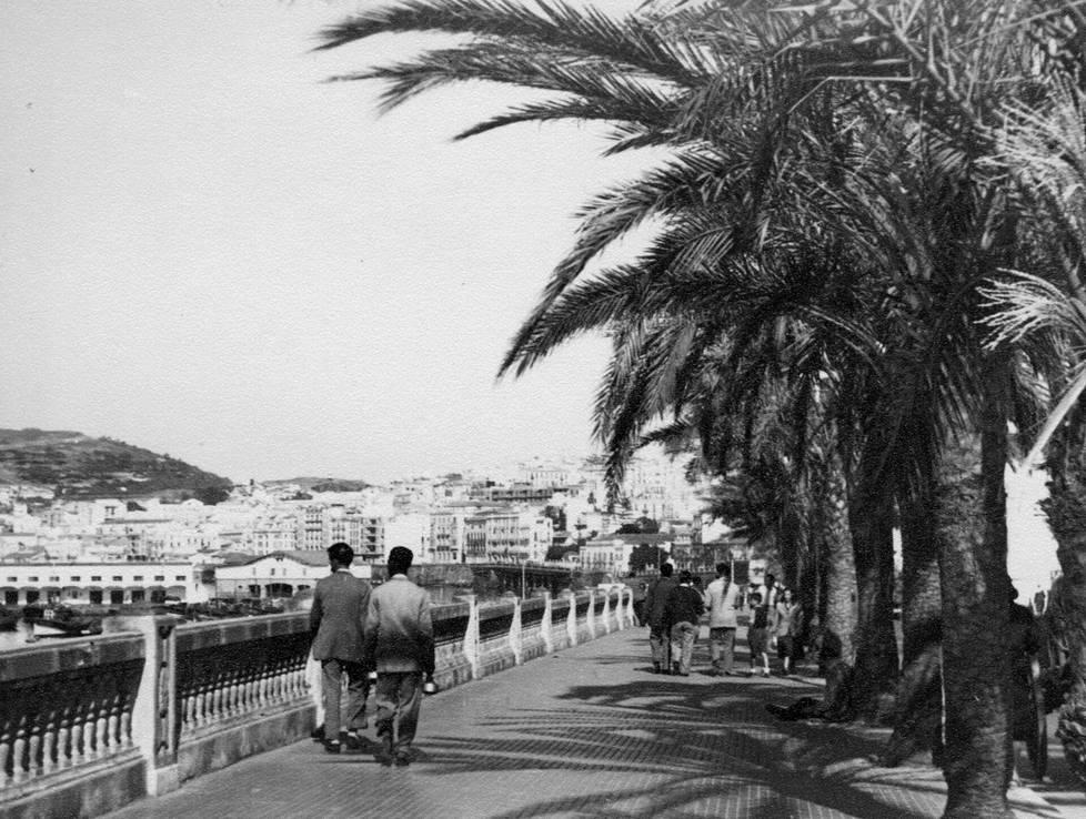 Maisemaa 1950-luvulta Ceutasta, joka on Espanjan kiistelty erillisalue Marokossa.