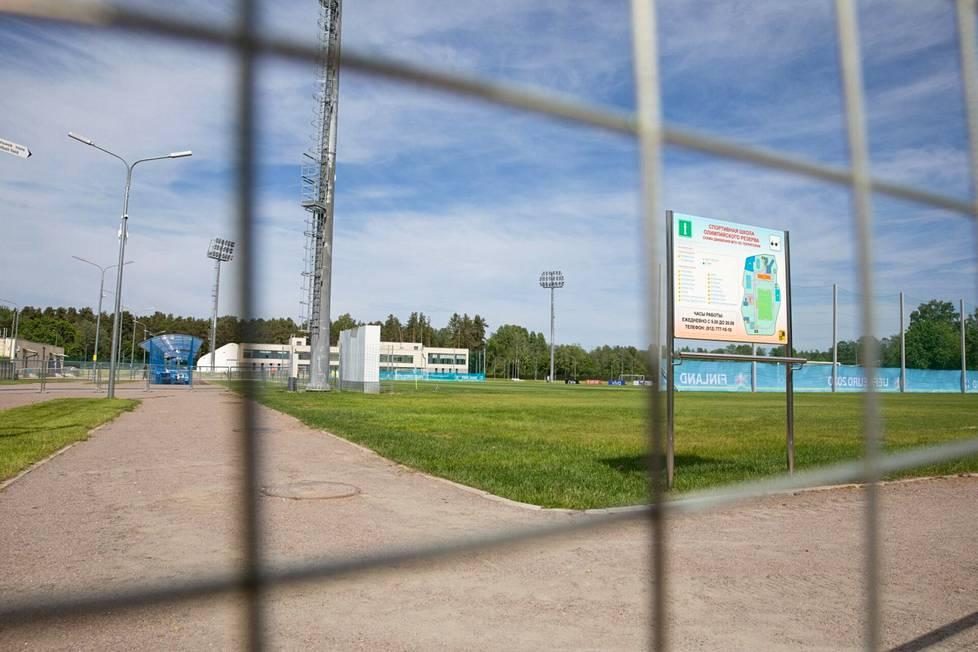 Suomen maajoukkueen käyttämä harjoituskeskus Terijoella eli Zelenogorskissa.
