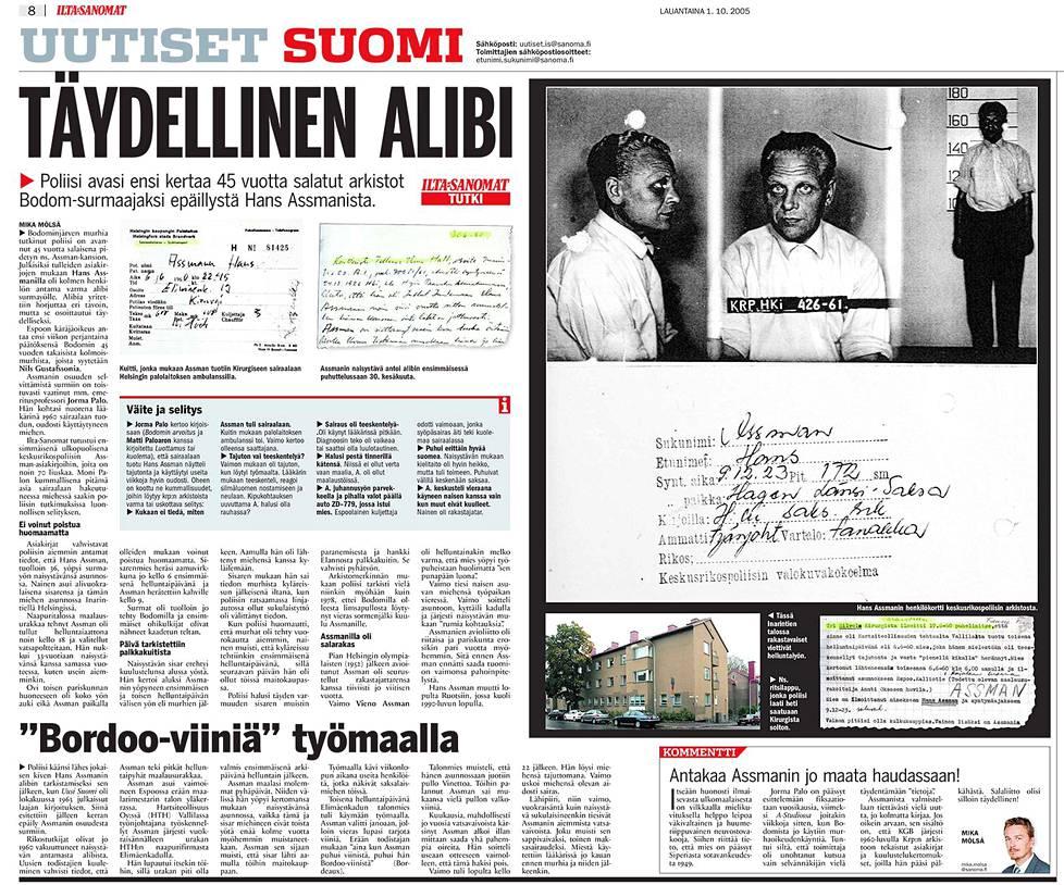 Ilta-Sanomat 1.10.2005.
