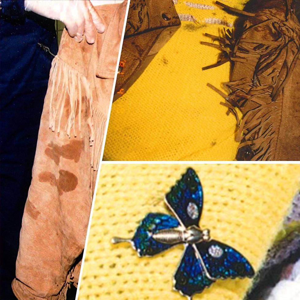 Tuula Lukkarisella oli tapahtumahetkellä yllään mokkanahkainen takki ja keltainen villapusero. Puseroon oli kiinnitetty perhosta esittävä rintaneula.