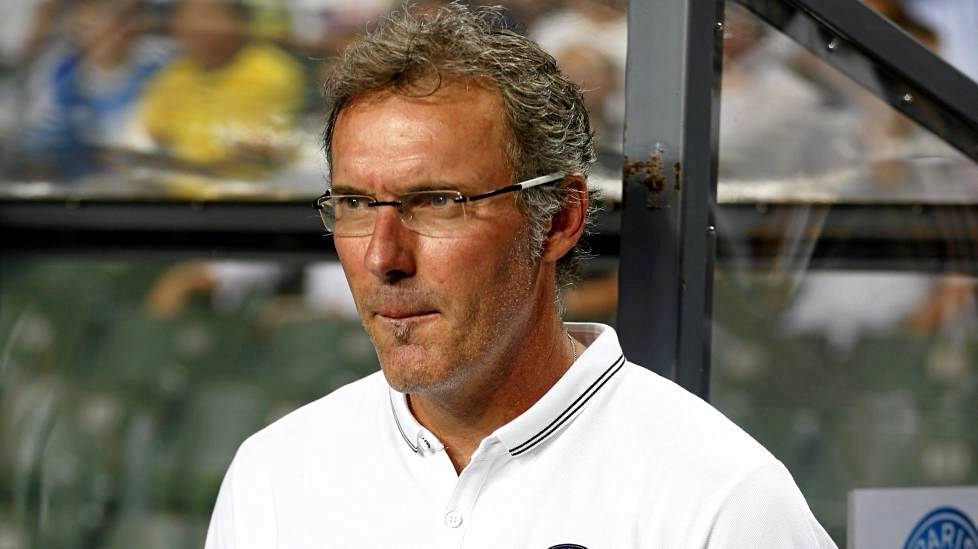 PSG:n manageri Laurent Blanc.