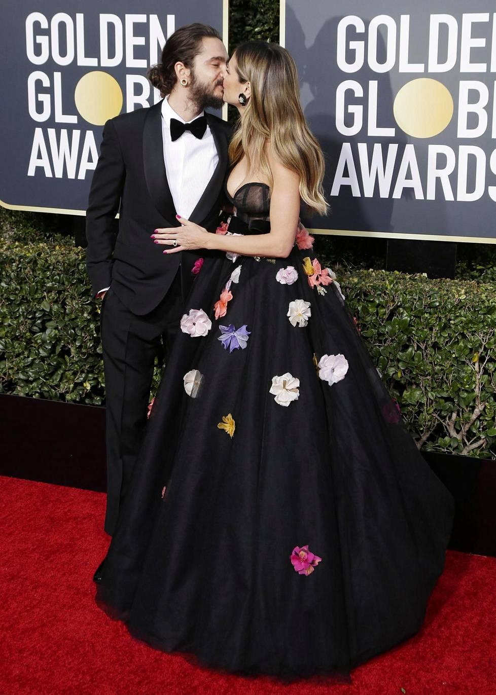 Tuore pari Tom Kaulitz ja Heidi Klum söpöilivät lavalla.