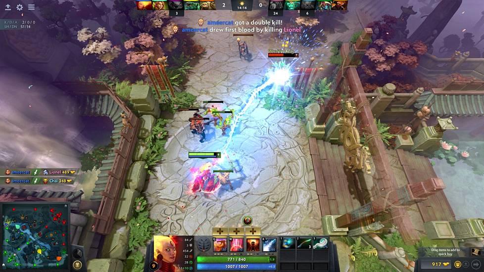 Dota 2 on niin kutsuttu MOBA-peli, jossa pelaajat ohjaavat valitsemaansa sankaria. Otteluissa kaksi viiden hengen joukkuetta pelaa vastakkain ja pelin tavoite on tuhota vastustajan tukikohdassa sijaitseva Ancient. Ensimmäinen vastustajan Ancientin tuhonnut joukkue voittaa pelin.