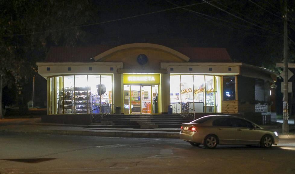 Dniprossa sijaitseva kauppa, jossa Oksasen uuden kirjan päähenkilö käy.