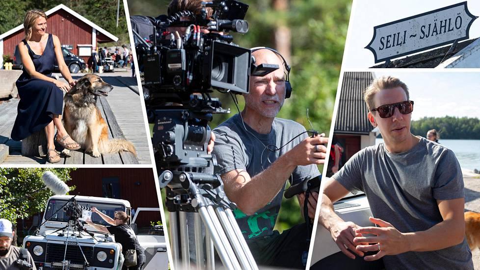 Aku Louhimies (kuvassa keskellä) kuvasi uutta elokuvaansa Turun saaristossa syyskuun alussa.