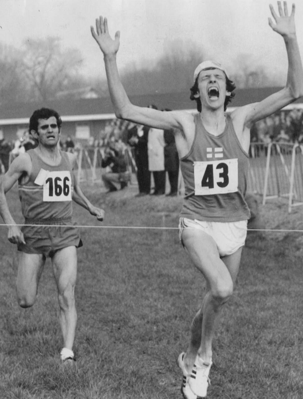 Pekka Päivärinta voitti maastojuoksun MM-kultaa 1973.