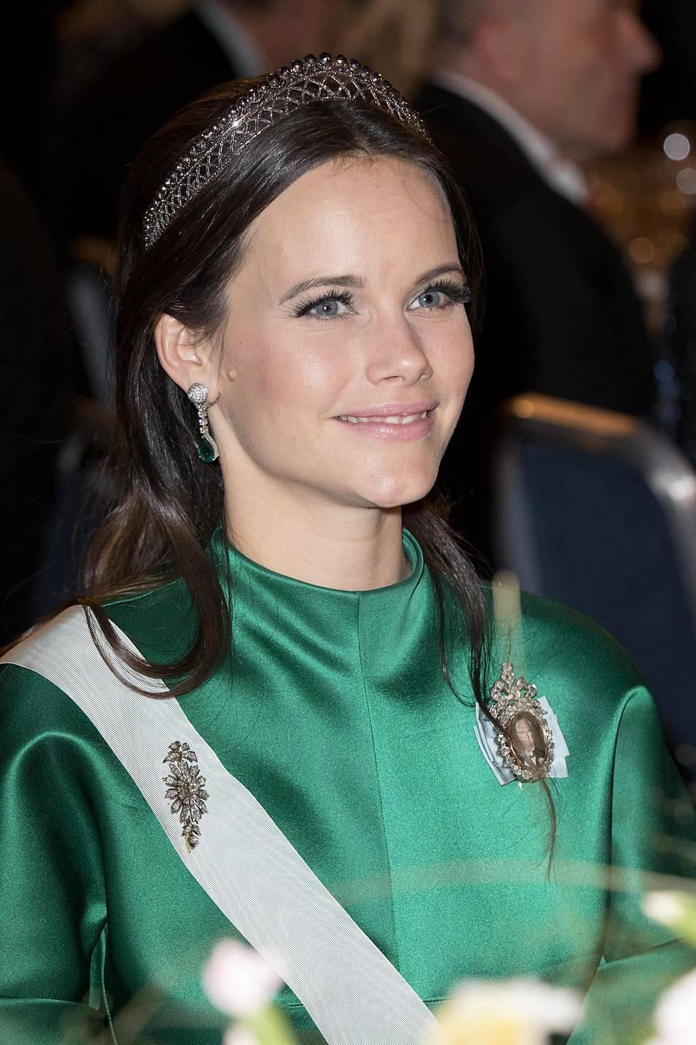 Prinsessa Sofian vihreä juhlatyyli keräsi ihastusta vuonna 2016.