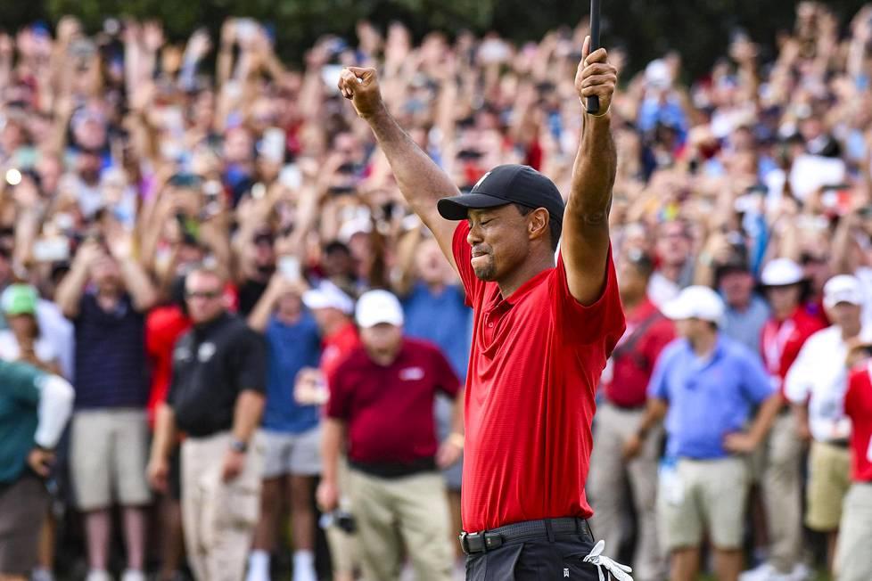 PGA-turnauksen voitto vuonna 2018 oli Woodsin ensimmäinen sitten vuoden 2013.