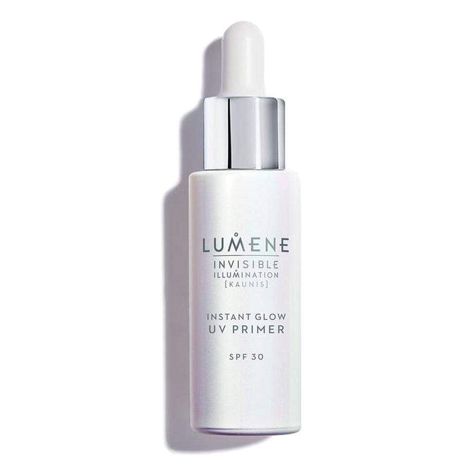 Lumene Invisible Illumination Instant Glow UV Primer SPF 30 -meikinpohjustaja, 31,90 € / 30 ml.