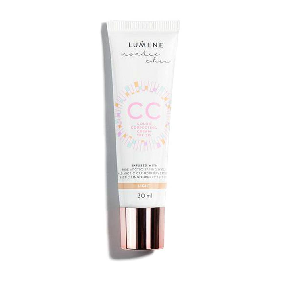 Lumene Nordic Chic CC Color Correcting Cream, 6 eri sävyä, 16,90 € / 30 ml.