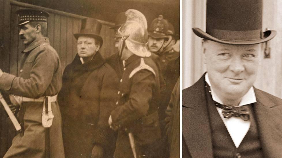 Winston Churchill muistetaan toisen maailmansodan pääministerinä, mutta hän oli jo 1910-luvulla merkittävä poliitikko. Vasemmalla Churchill seuraa Sidney streetin tapahtumia.