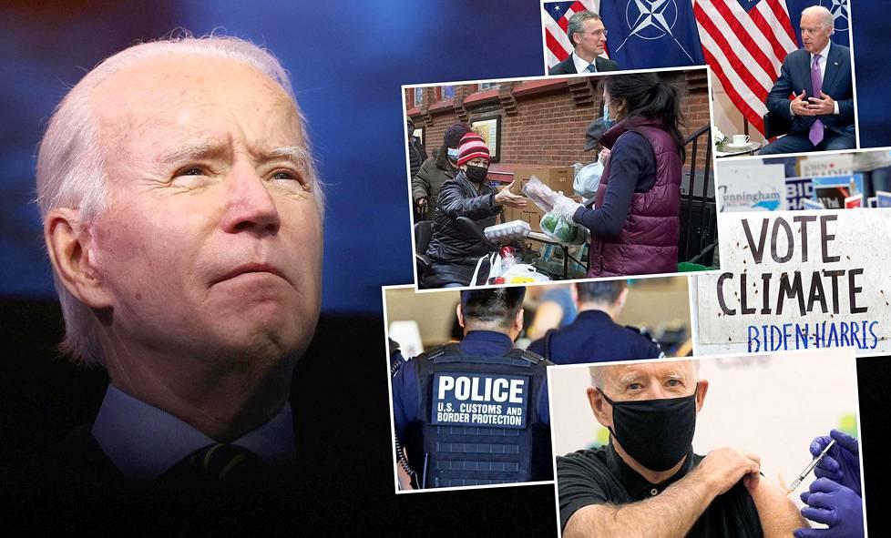 Tuleva presidentti Joe Biden vannoo keskiviikkona virkavalansa. Haasteita riittää, mutta hän listasi kampanjassaan tavoitteitaan.