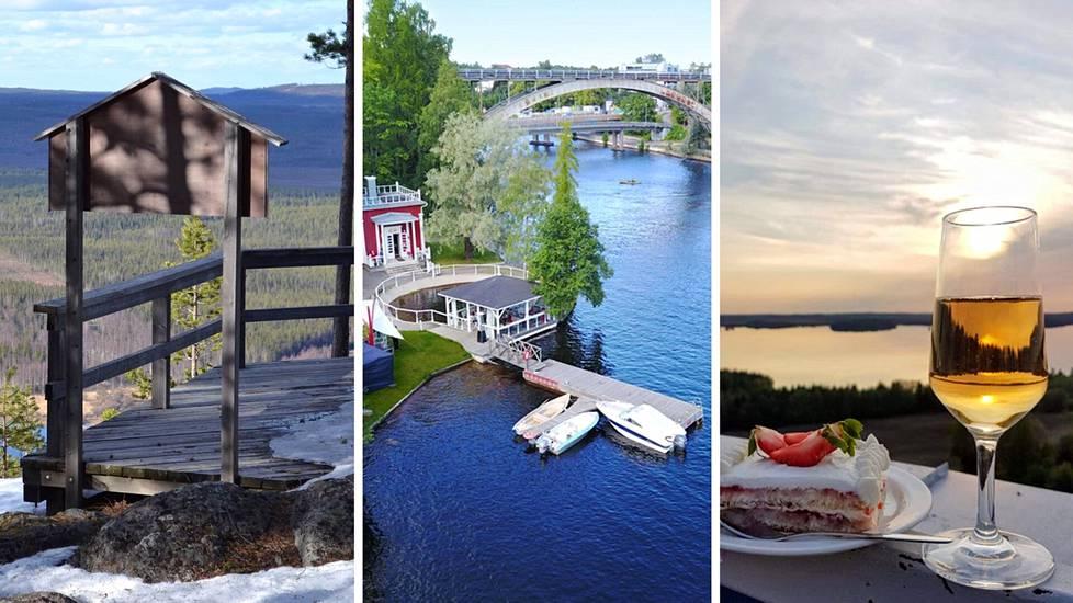 Kesäisestä Suomesta löytyy upeita maisemakahviloita ja ravintoloita.