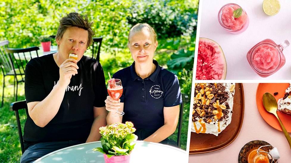 Viilennystä kesään! Yrittäjäpariskunta Henri ja Riitta Talvitie nauttivat paletastaan.