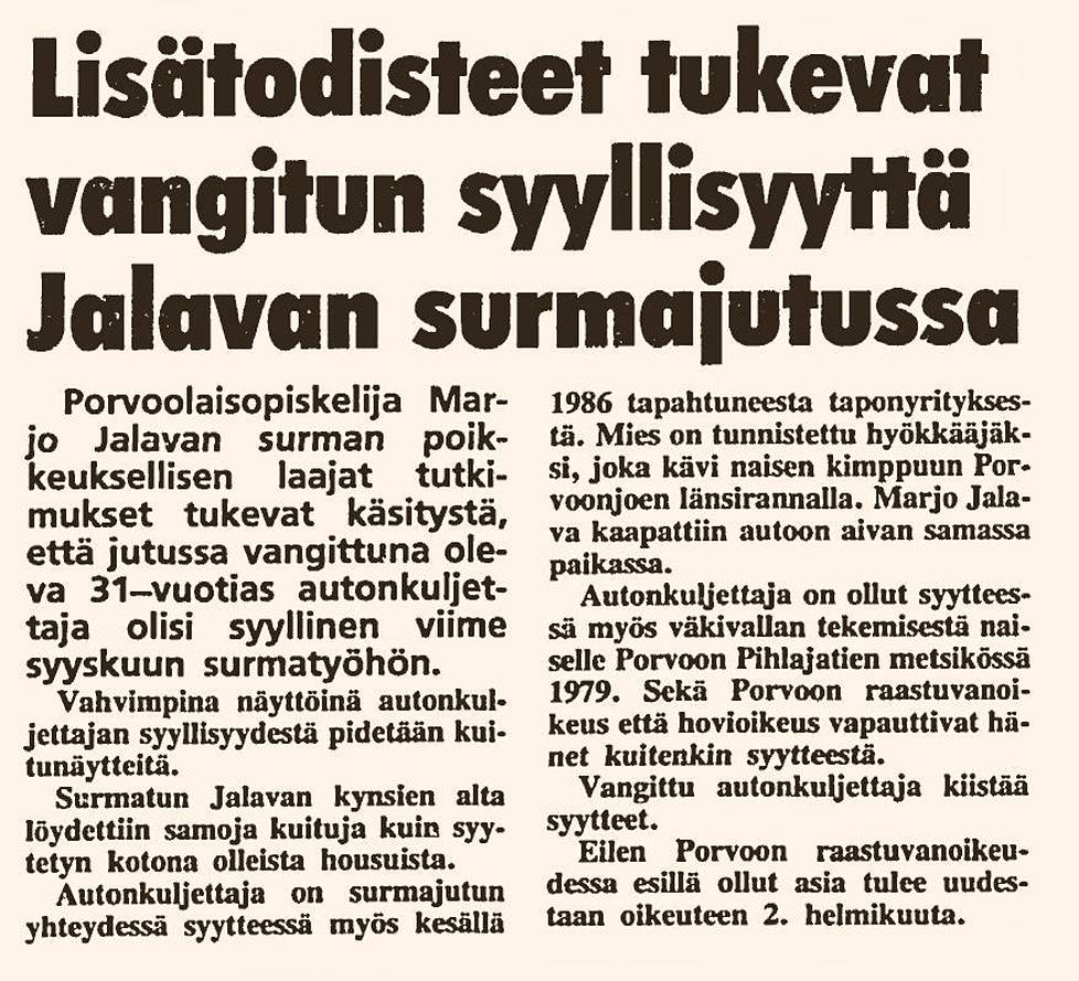 Ilta-Sanomat 20.1. 1988.