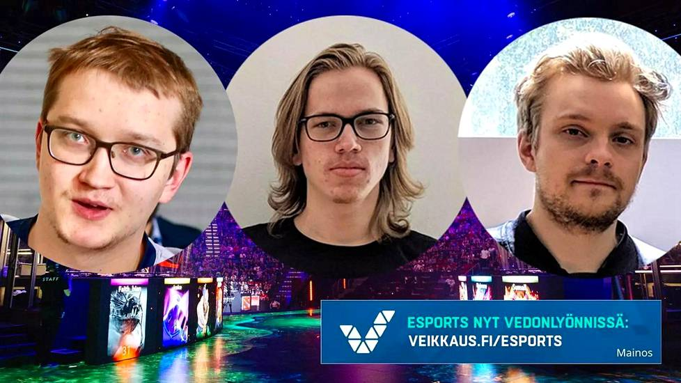 "Lasse ""MATUMBAMAN"" Urpalainen (vas.) puolustaa The Internationalin mestaruutta Team Liquidin riveissä. Topias ""Topson"" Taavitsainen ja Jesse ""JerAx"" Vainikka puolestaan pelaavat tiistaina ensimmäisen pudotuspeliottelunsa."