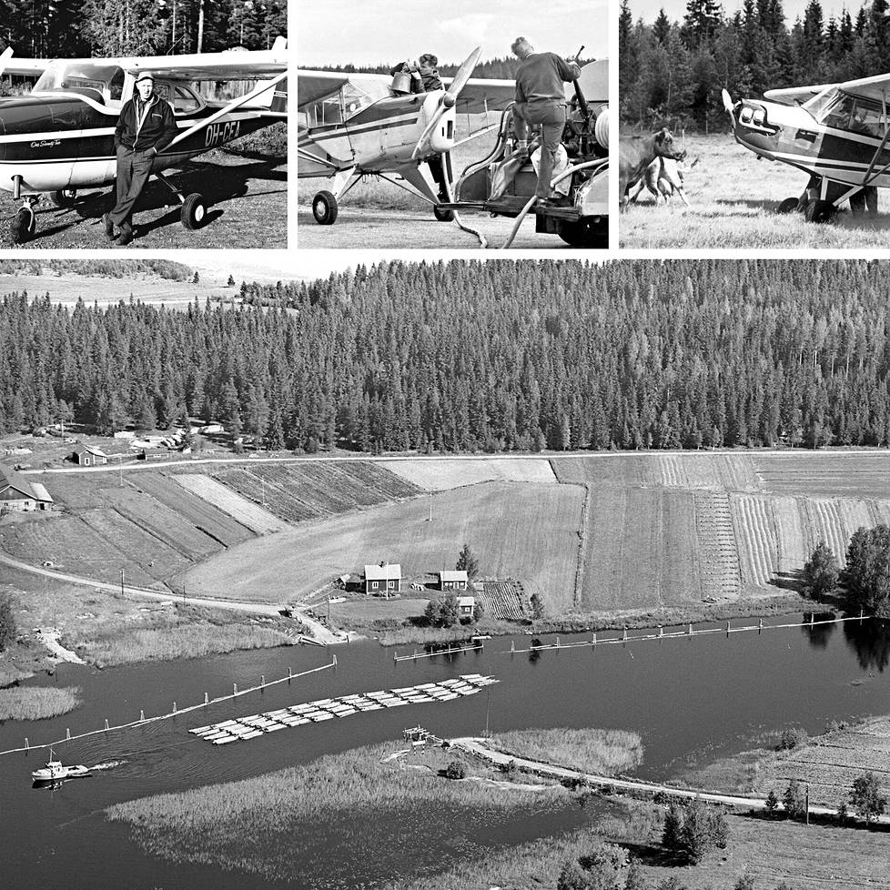 Pienkonelentäjät ottivat Suomen maaseudulta sodan jälkeisinä vuosikymmeninä tuhansia ja taas tuhansia ilmavalokuvia.