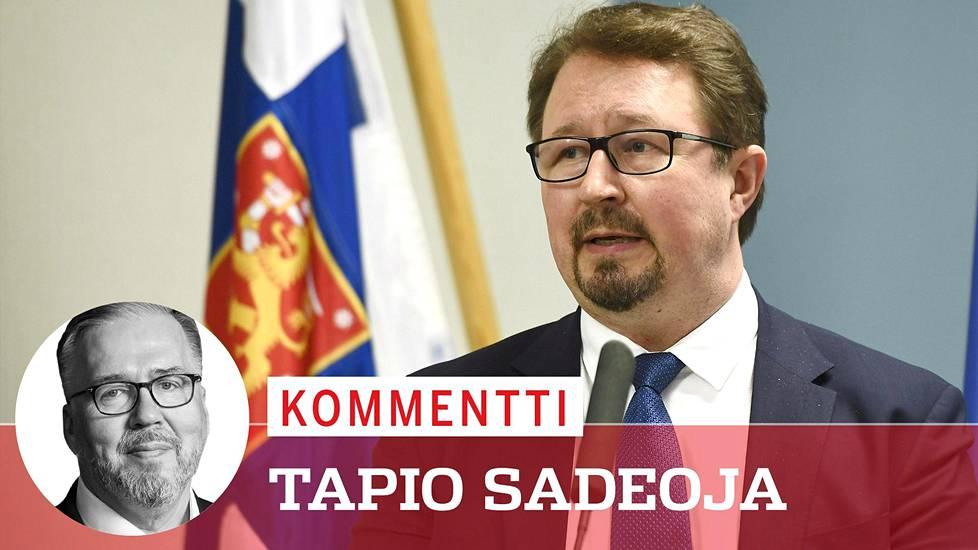 THL:n terveysturvallisuusosaston johtaja Mika Salminen puhui hallituksen koronatilannekatsauksessa maanantaina.