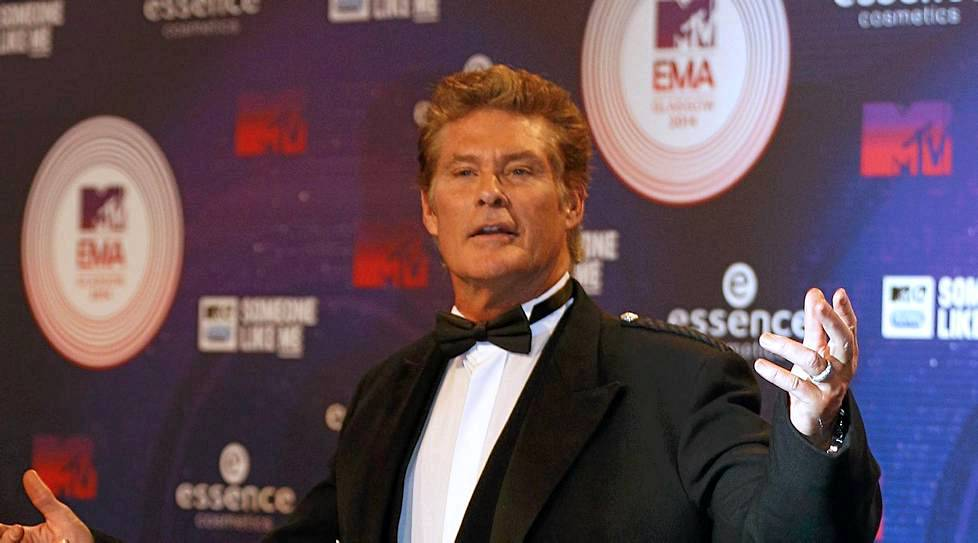 David Hasselhoff Glasgow'ssa, MTV Europe Music Awardseissa.