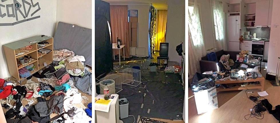 Kuvat huumeidenkäyttäjien asunnoista ovat karua katseltavaa. Jutun kuvat ovat peräisin poliisilta eivätkä ne liity haastateltuihin henkilöihin.