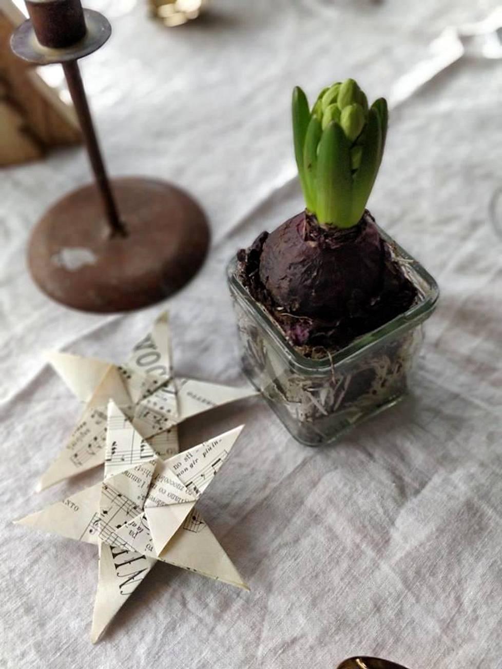 Marika Mäki-Haapojalla menee vuosittain noin 50-100 euroa joulukoristeisiin. Suurimman osan koristeista hän löytää kirpputoreilta.