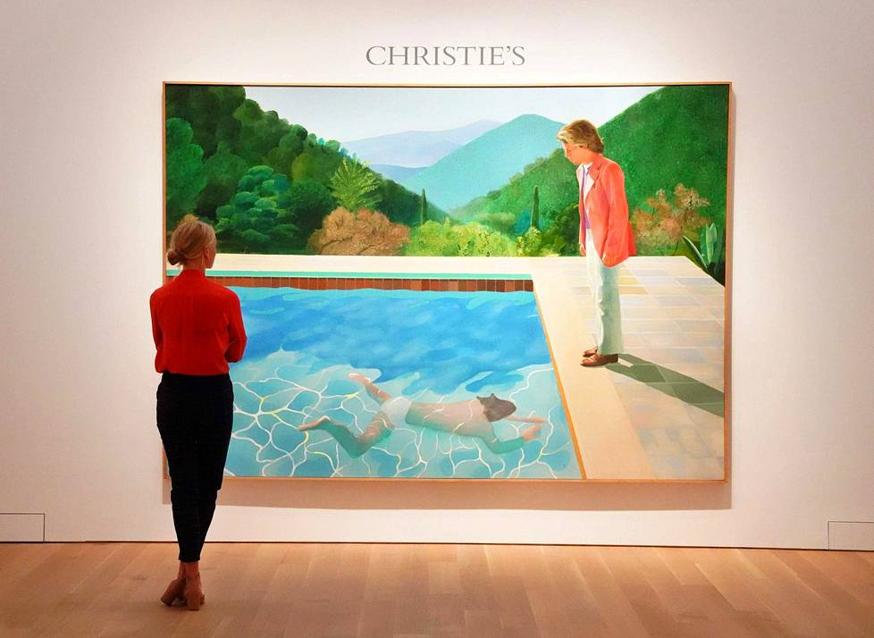 Portrait of an Artist (Pool with Two Figures) myytiin Christie'sin huutokaupassa New Yorkissa torstaina.