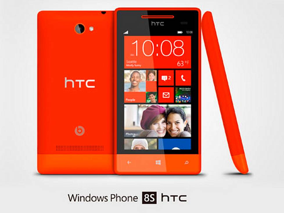 HTC:n Windows Phone 8S on toinen uutuuksista.