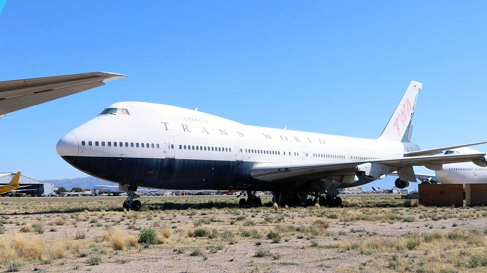 TWA-yhtiön Boeing 747 -matkustajakone.