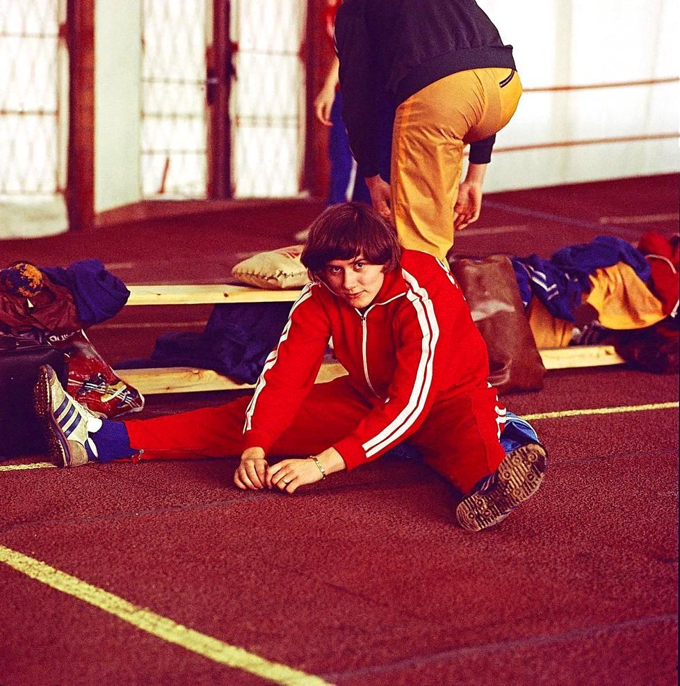 Göhr harjoituksissa 1978.