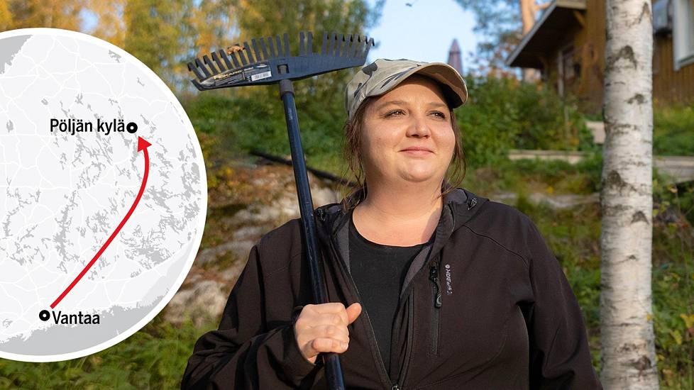 Mette Nurminen kaipasi kaupungissa asuessaan omaa pihaa.