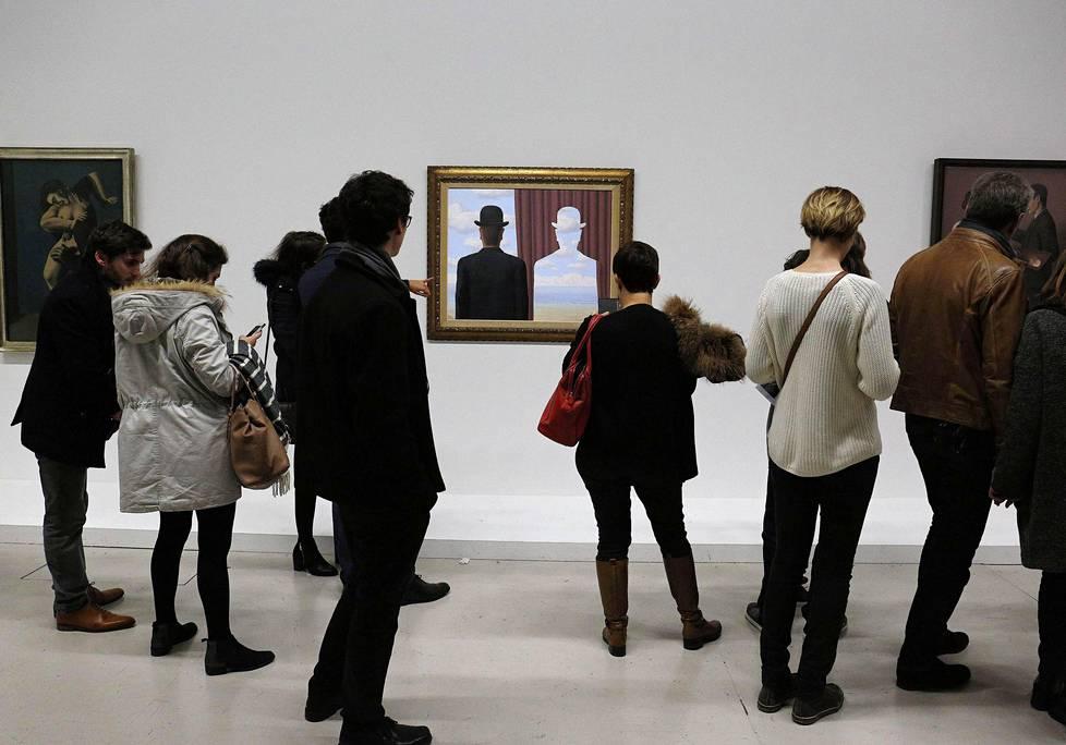 Magritte-näyttely Pariisissa vuonna 2016.