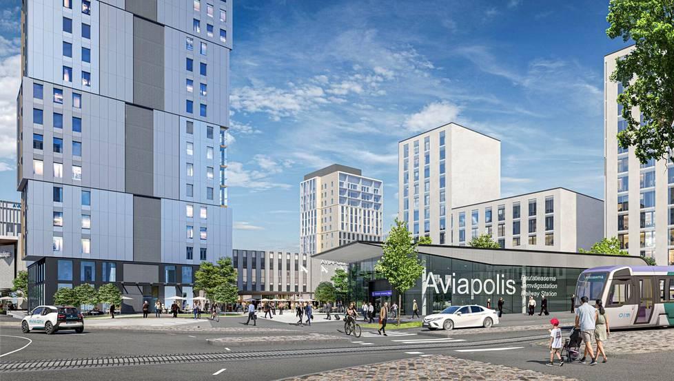 """Avia Citystä rakennetaan niin sanottua """"15 minuutin kaupunginosaa"""", jossa kaikki tarvittava on kaupunkilaisten saatavilla nopeasti ja helposti."""