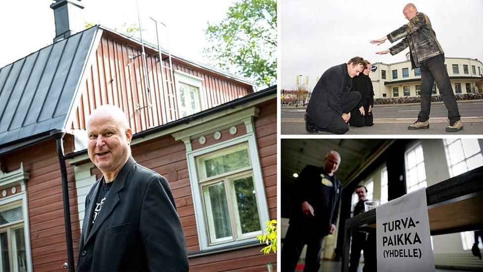 Valtion johtaja Ari Peltonen kertoo asuvansa maanpaossa Helsingissä.