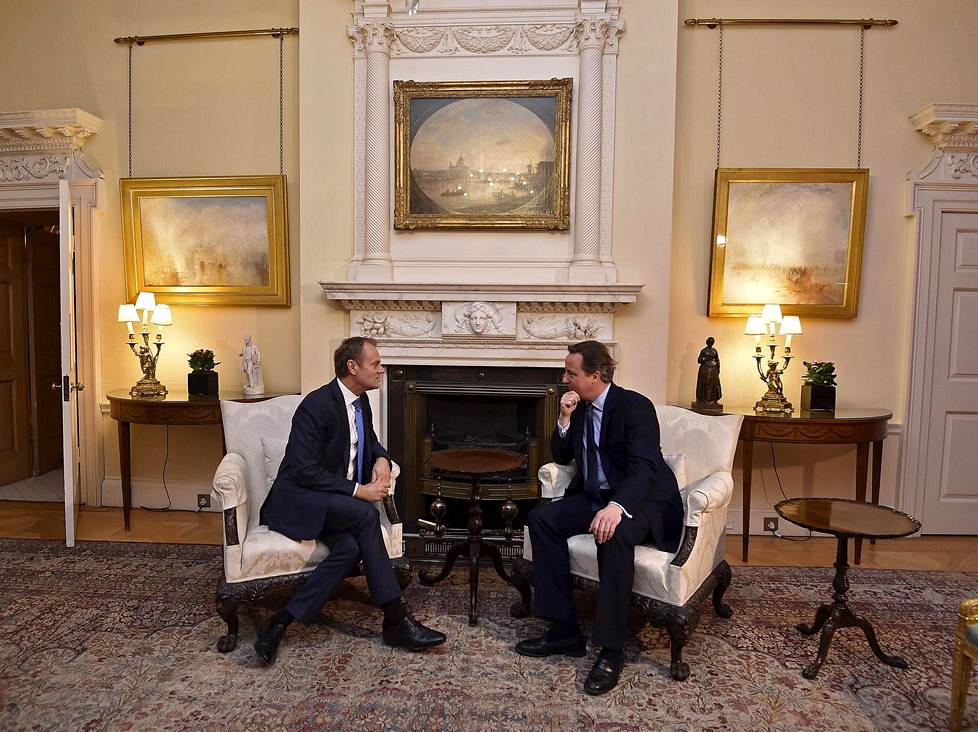 Donald Tusk ja David Cameron.